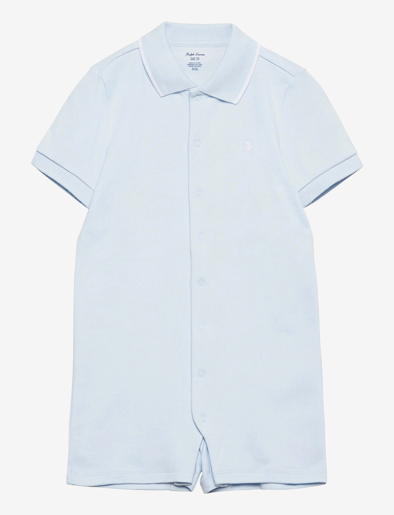 Ralph Lauren Baby - Cotton Interlock Polo Shortall - kortærmede - beryl blue - 0