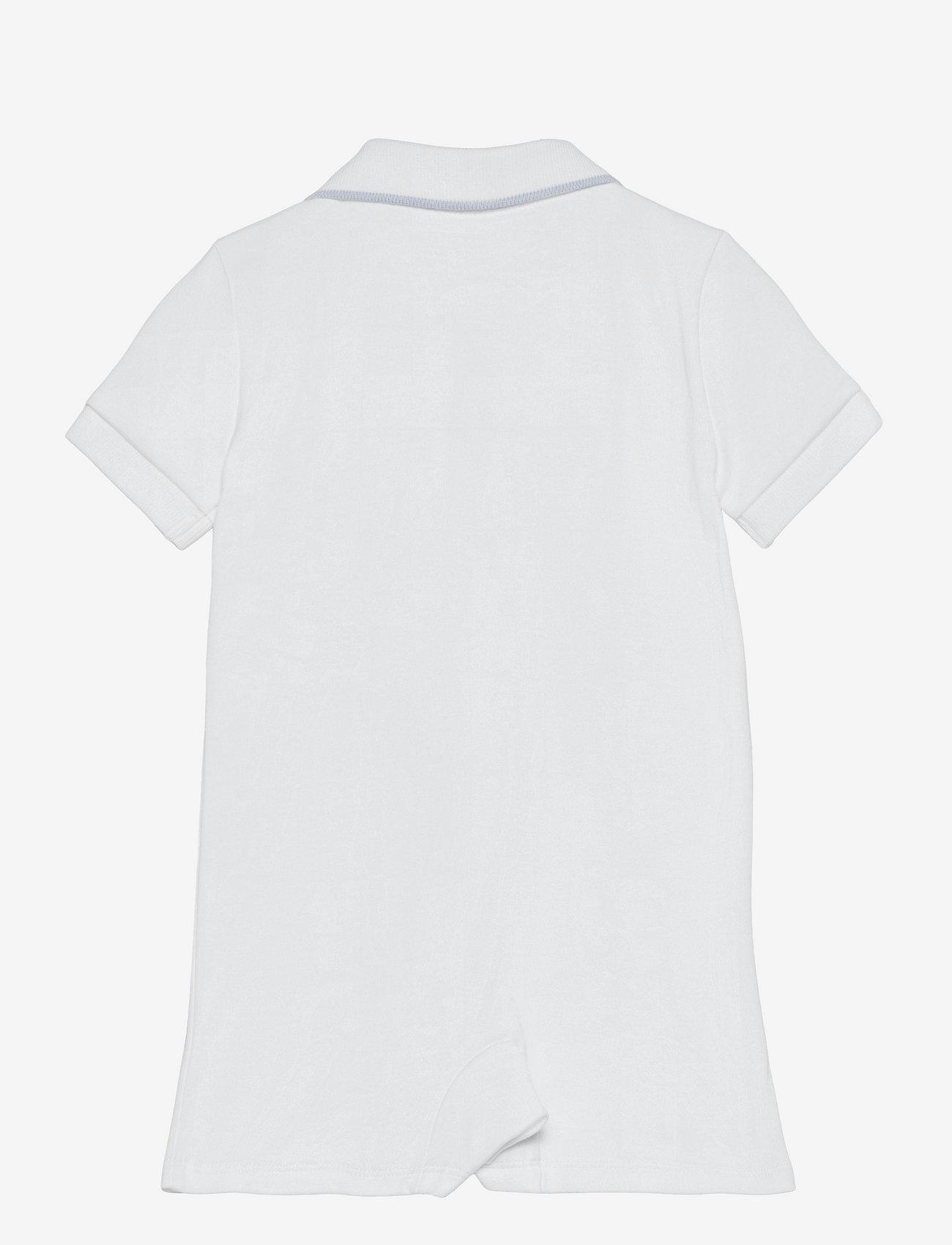 Ralph Lauren Baby - Cotton Interlock Polo Shortall - kortærmede - white - 1