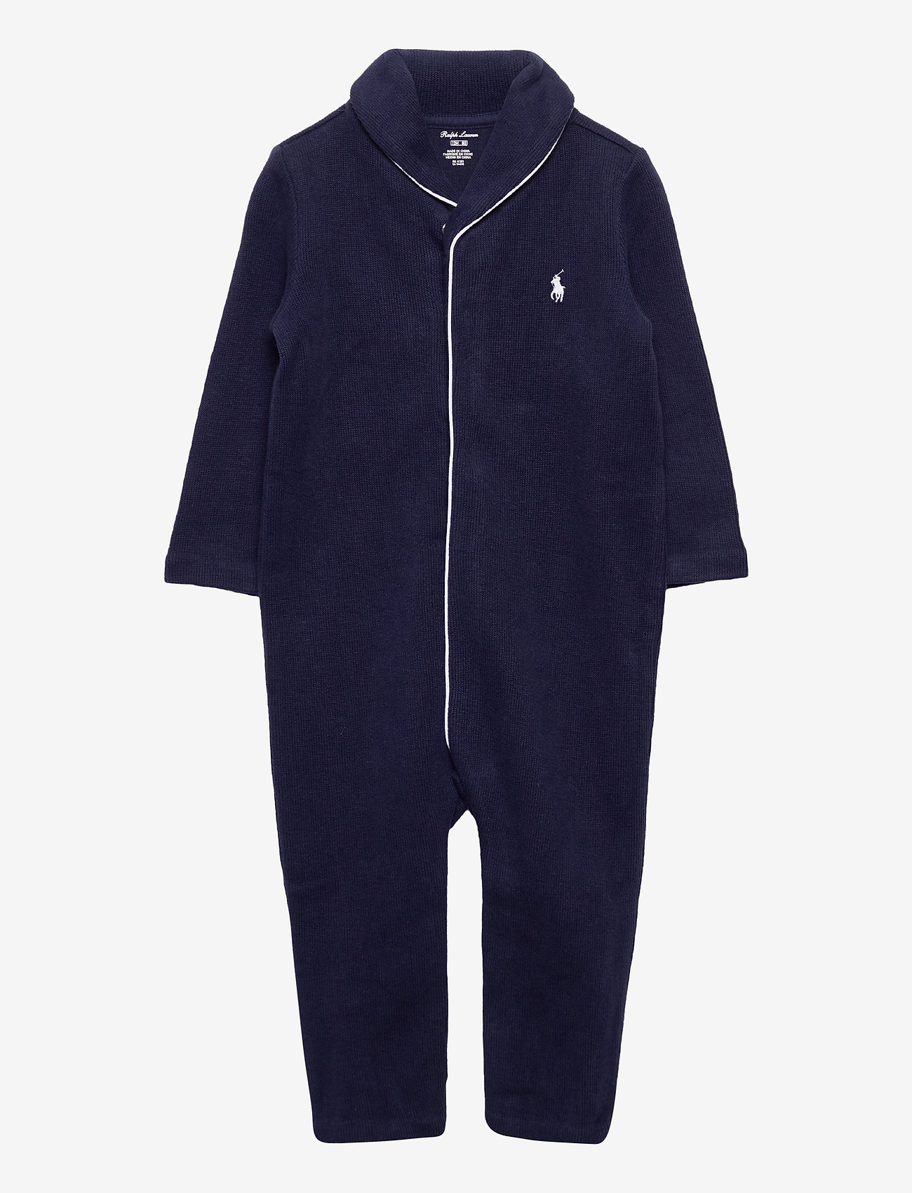 Ralph Lauren Baby - French-Rib Cotton Coverall - langärmelig - french navy - 0