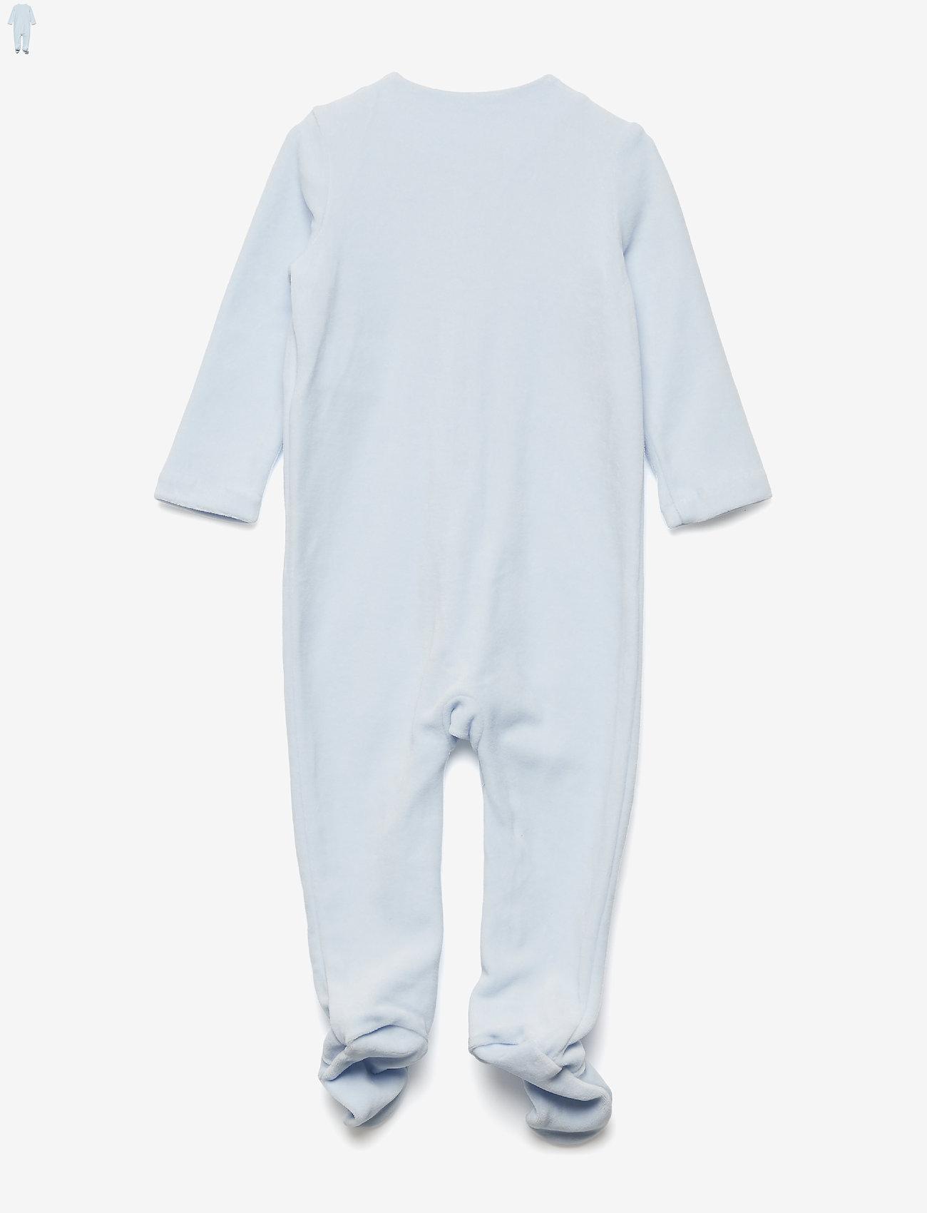 Ralph Lauren Baby - Cotton-Blend-Velour Coverall - langärmelig - beryl blue - 1