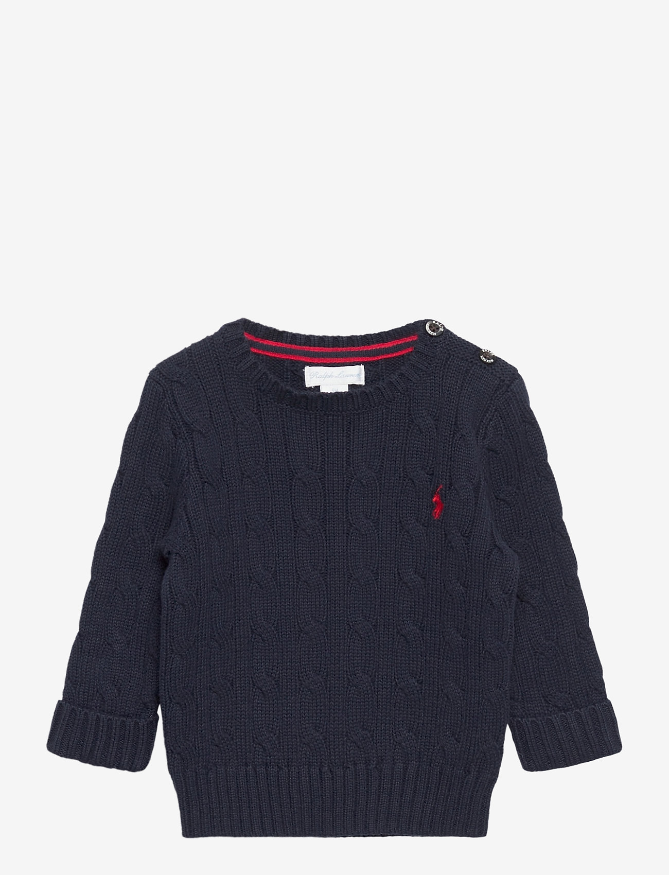 Ralph Lauren Baby - Cable-Knit Cotton Sweater - strik - rl navy - 0