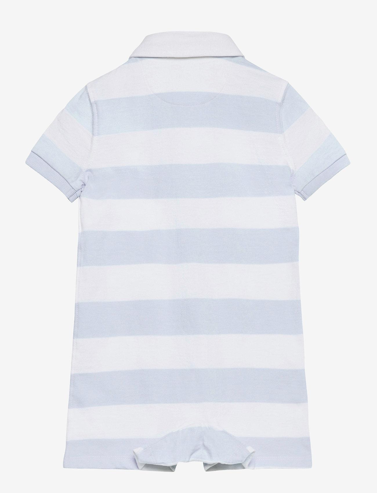 Ralph Lauren Baby - Striped Cotton Rugby Shortall - kortærmede - beryl blue multi - 1