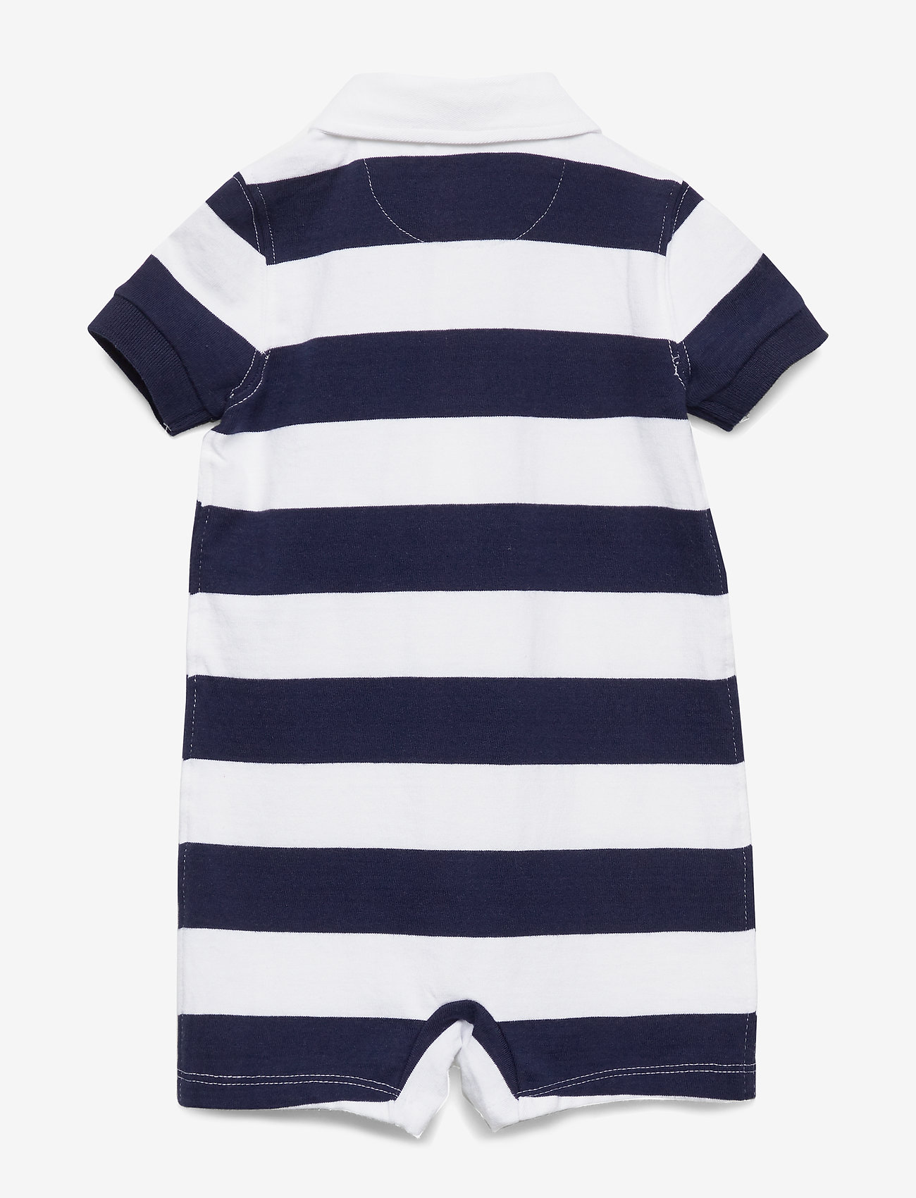 Ralph Lauren Baby - Striped Cotton Rugby Shortall - kortærmede - french navy multi - 1