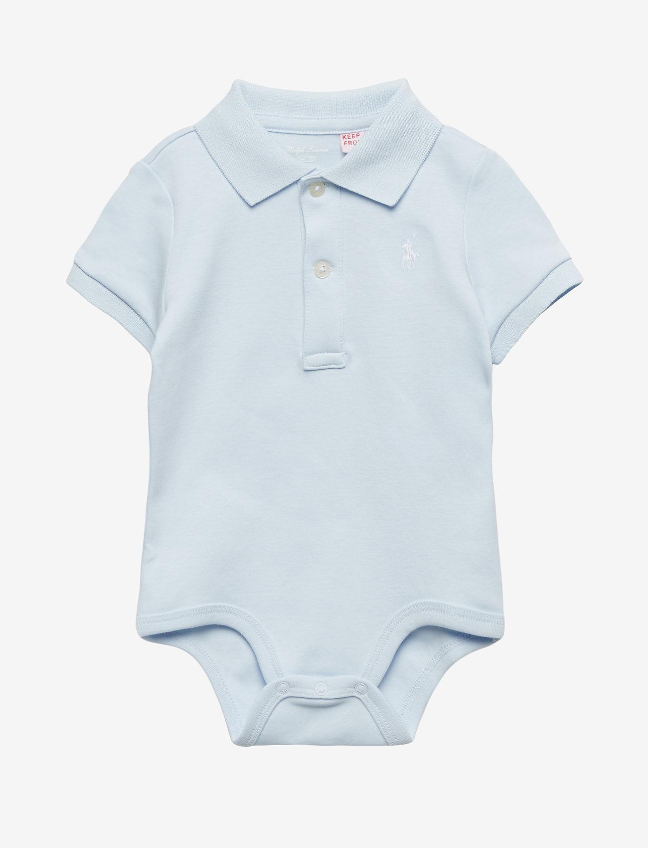 Ralph Lauren Baby - Cotton Interlock Polo Bodysuit - short-sleeved - beryl blue - 0