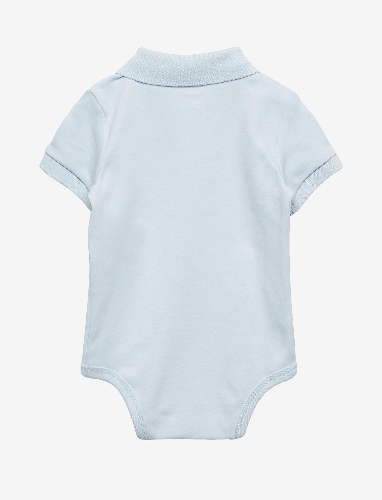Ralph Lauren Baby - Cotton Interlock Polo Bodysuit - short-sleeved - beryl blue - 1