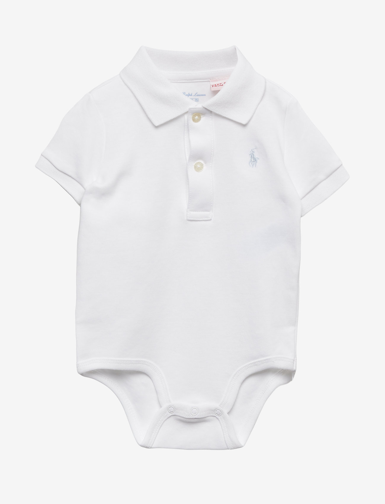 Ralph Lauren Baby - Cotton Interlock Polo Bodysuit - short-sleeved - white - 0