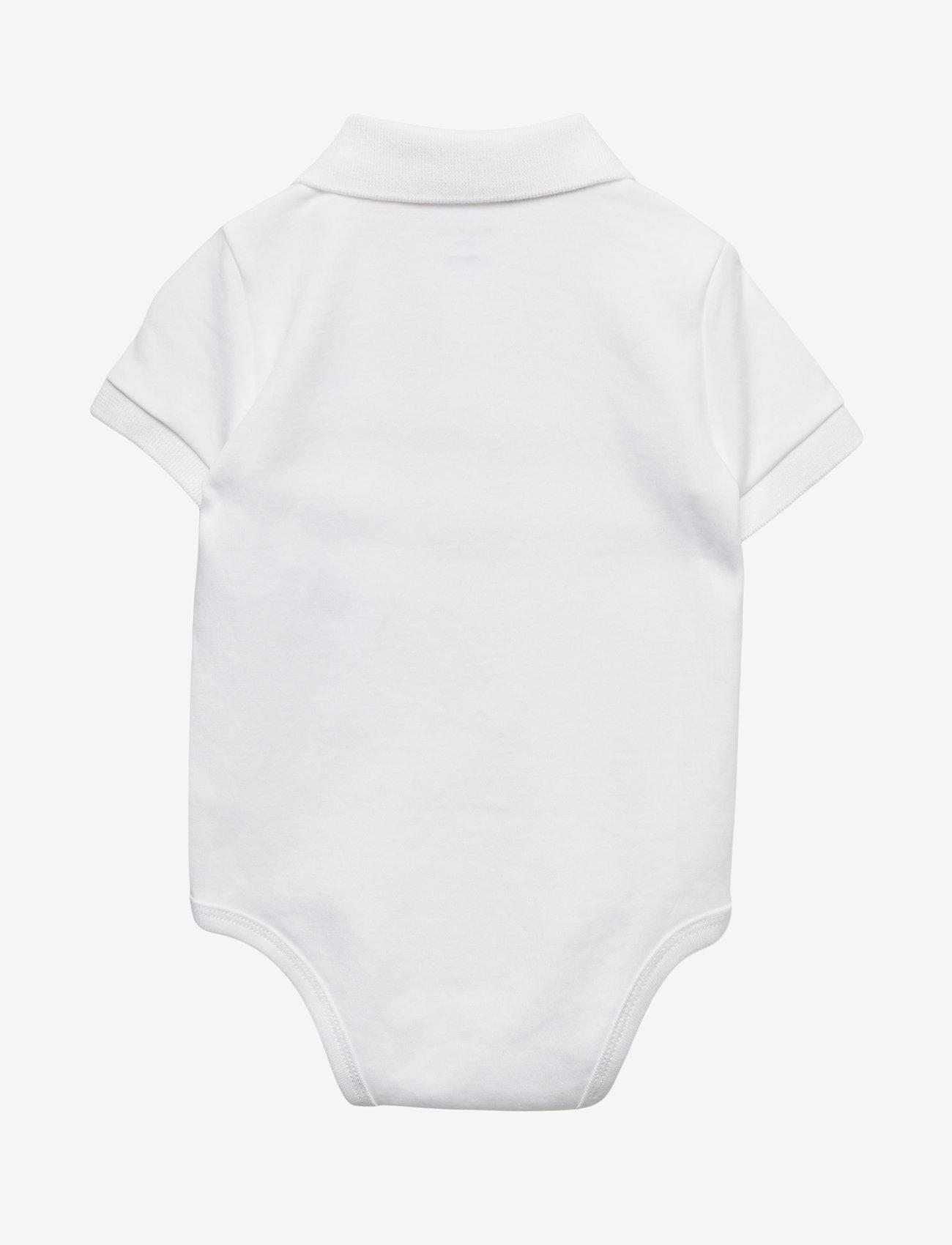 Ralph Lauren Baby - Cotton Interlock Polo Bodysuit - short-sleeved - white - 1