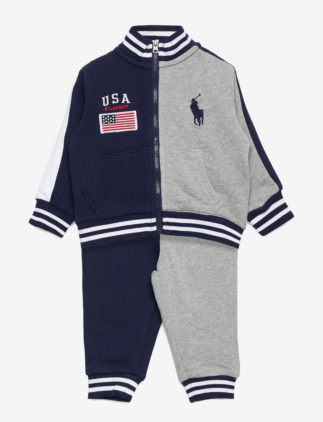 Ralph Lauren Baby - Cotton Terry Jacket & Pant Set - tracksuits - newport navy mult - 0