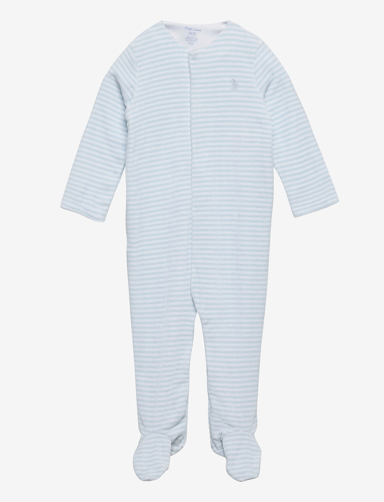 Ralph Lauren Baby - Velour Coverall Gift Set - gavesæt - beryl blue multi - 0