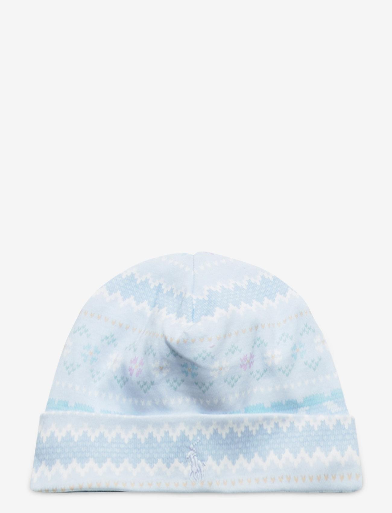 Ralph Lauren Baby - Print Interlock Hat - hats - blue multi - 0
