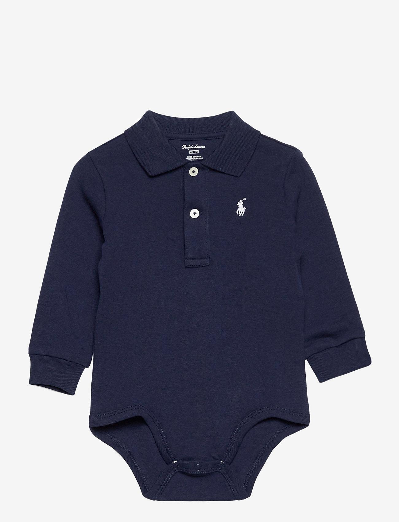 Ralph Lauren Baby - Cotton Interlock Polo Bodysuit - lange mouwen - french navy - 0