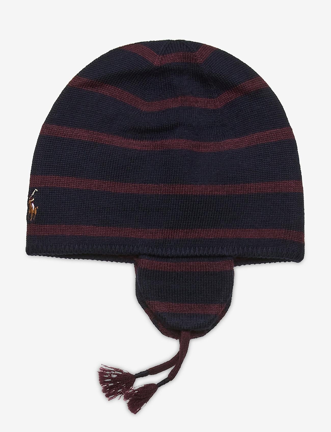 Ralph Lauren Baby - MERINO WOOL-EAR FLAP HAT-AC-HAT - hats - rl navy - 1