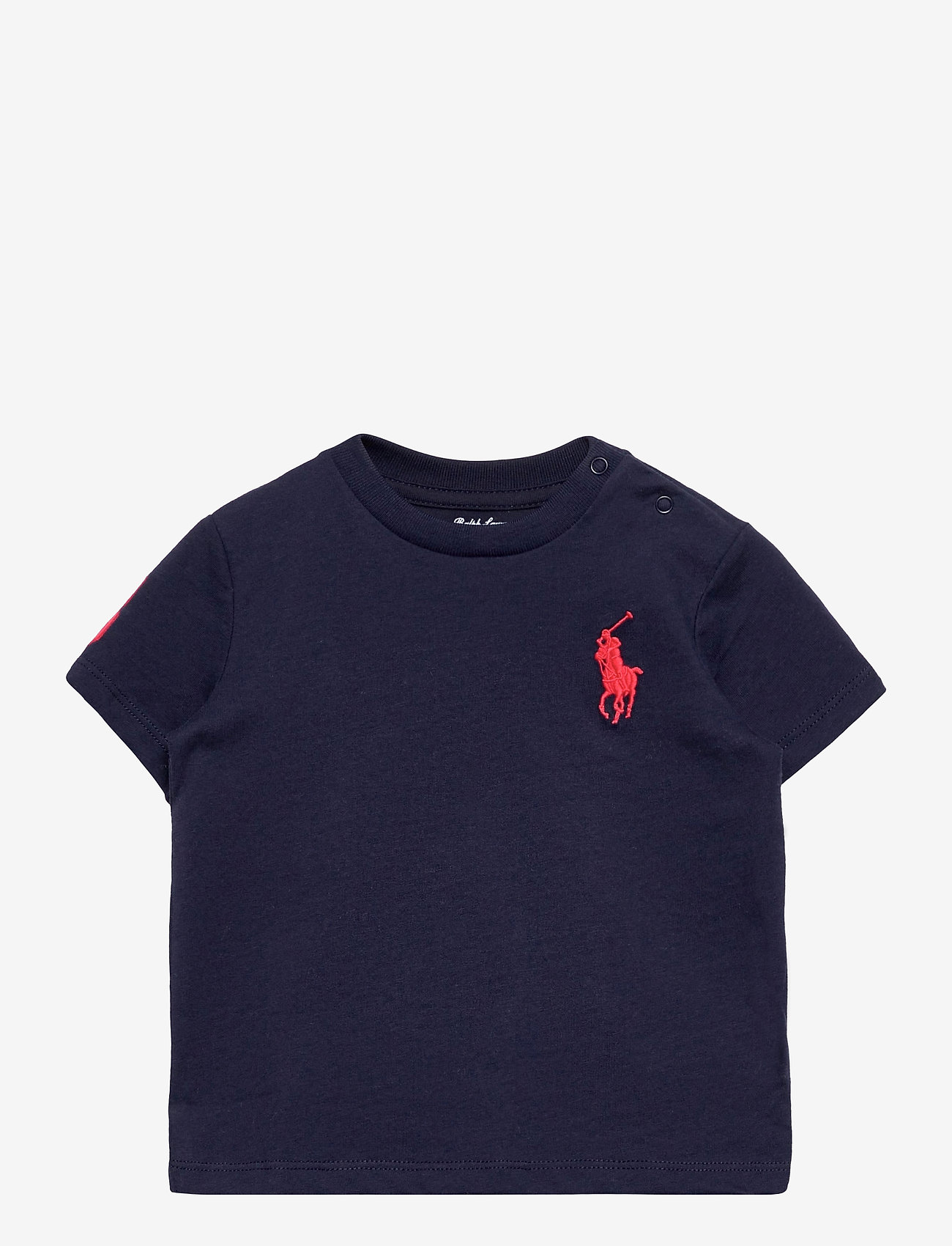 Ralph Lauren Baby - Big Pony Cotton Jersey Tee - kortærmede - french navy - 0