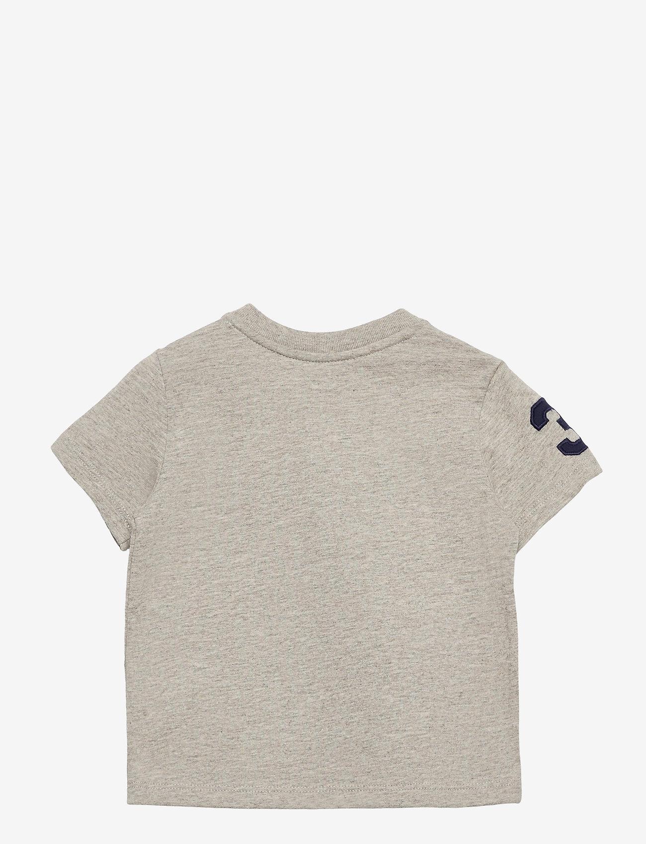 Ralph Lauren Baby - Big Pony Cotton Jersey Tee - kortærmede - new grey heather - 1