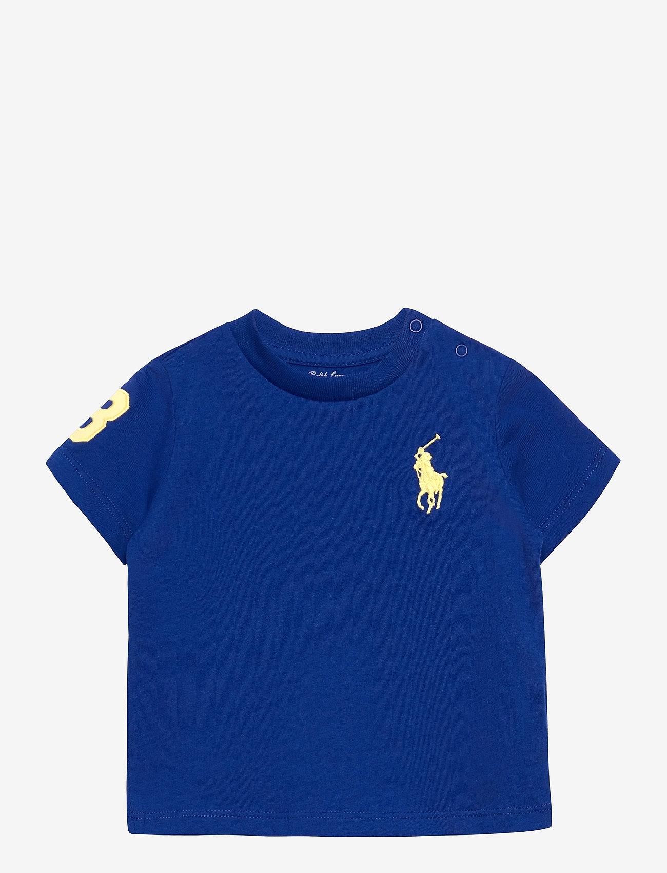 Ralph Lauren Baby - Big Pony Cotton Jersey Tee - kortærmede - sapphire star - 0