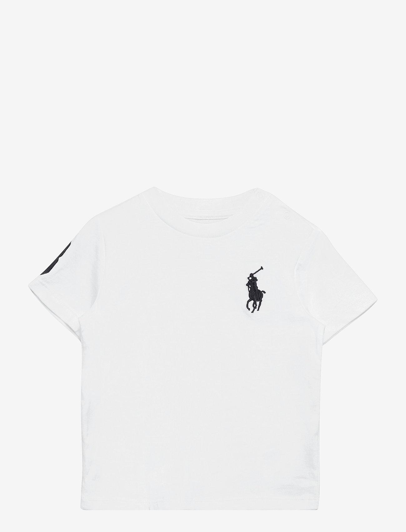 Ralph Lauren Baby - Big Pony Cotton Jersey Tee - kortærmede - white - 0
