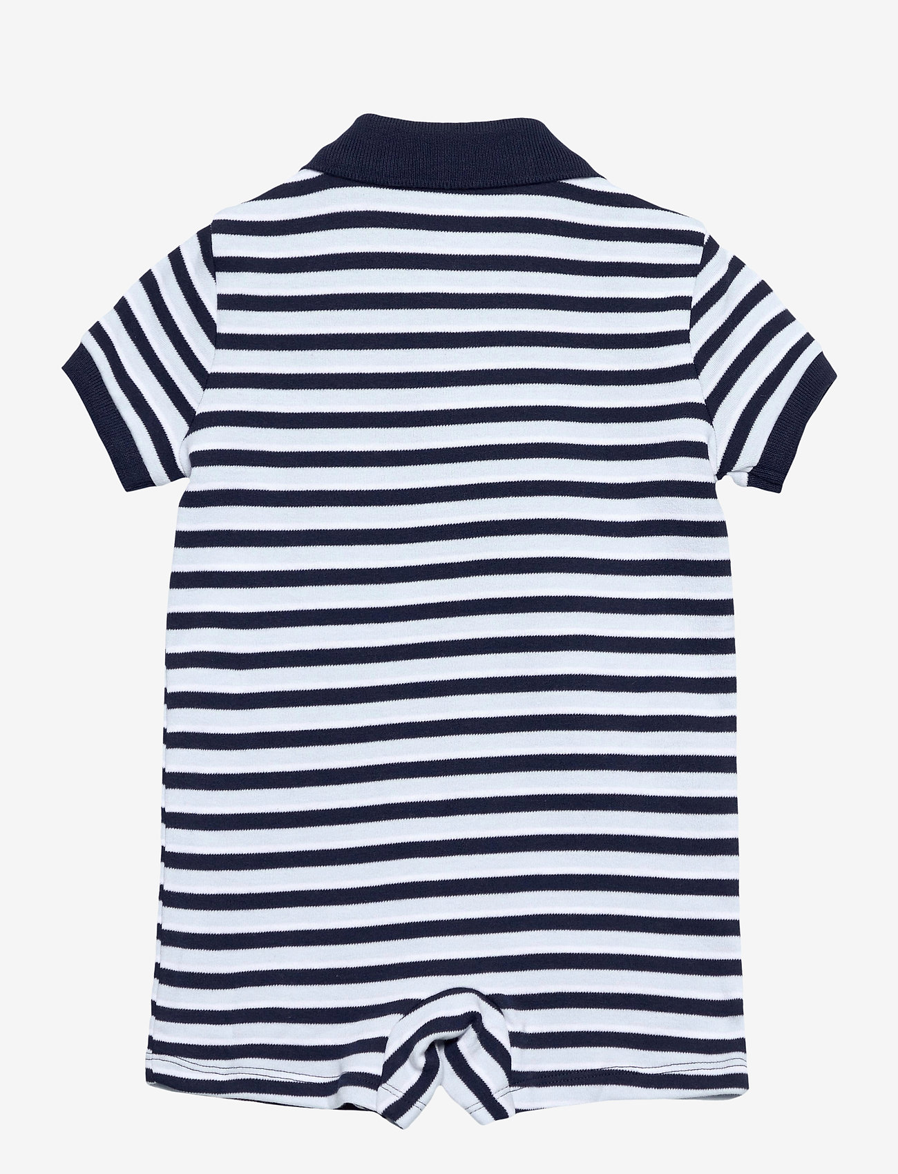 Ralph Lauren Baby - Soft Cotton Polo Shortall - short-sleeved - beryl blue multi - 1