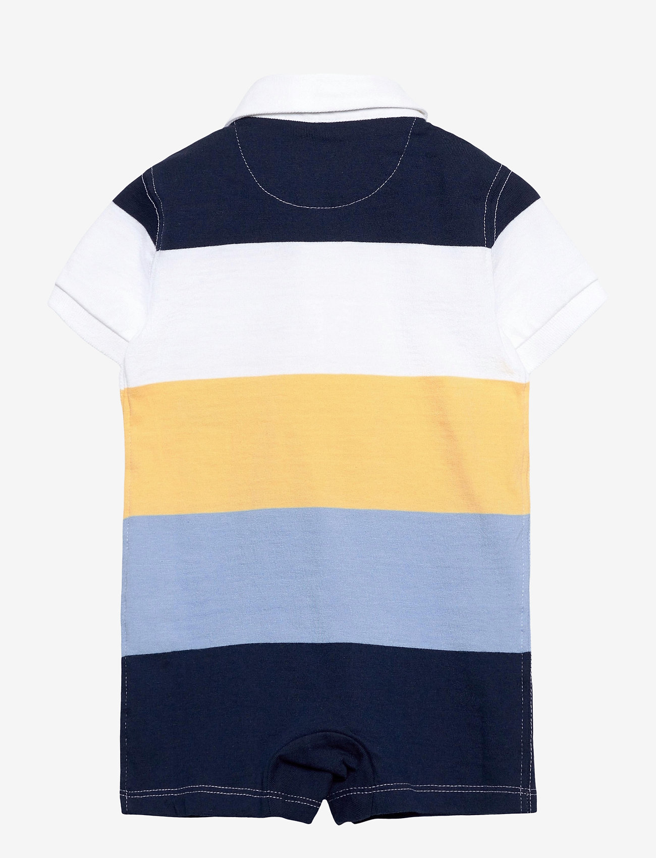 Ralph Lauren Baby - Striped Cotton Rugby Shortall - kurzärmelig - empire yellow mul - 1