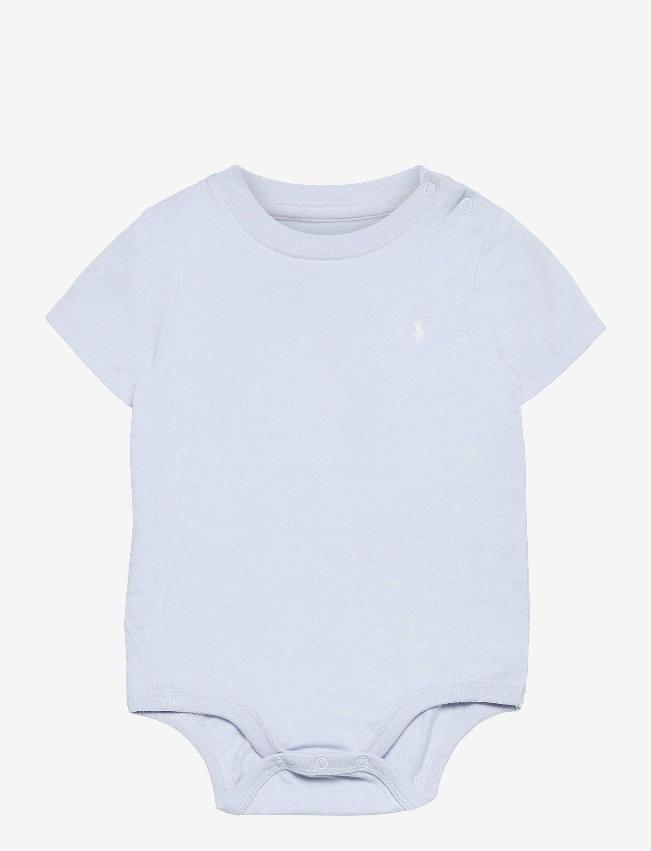 Ralph Lauren Baby - Cotton Jersey Bodysuit - kortærmede - beryl blue - 0