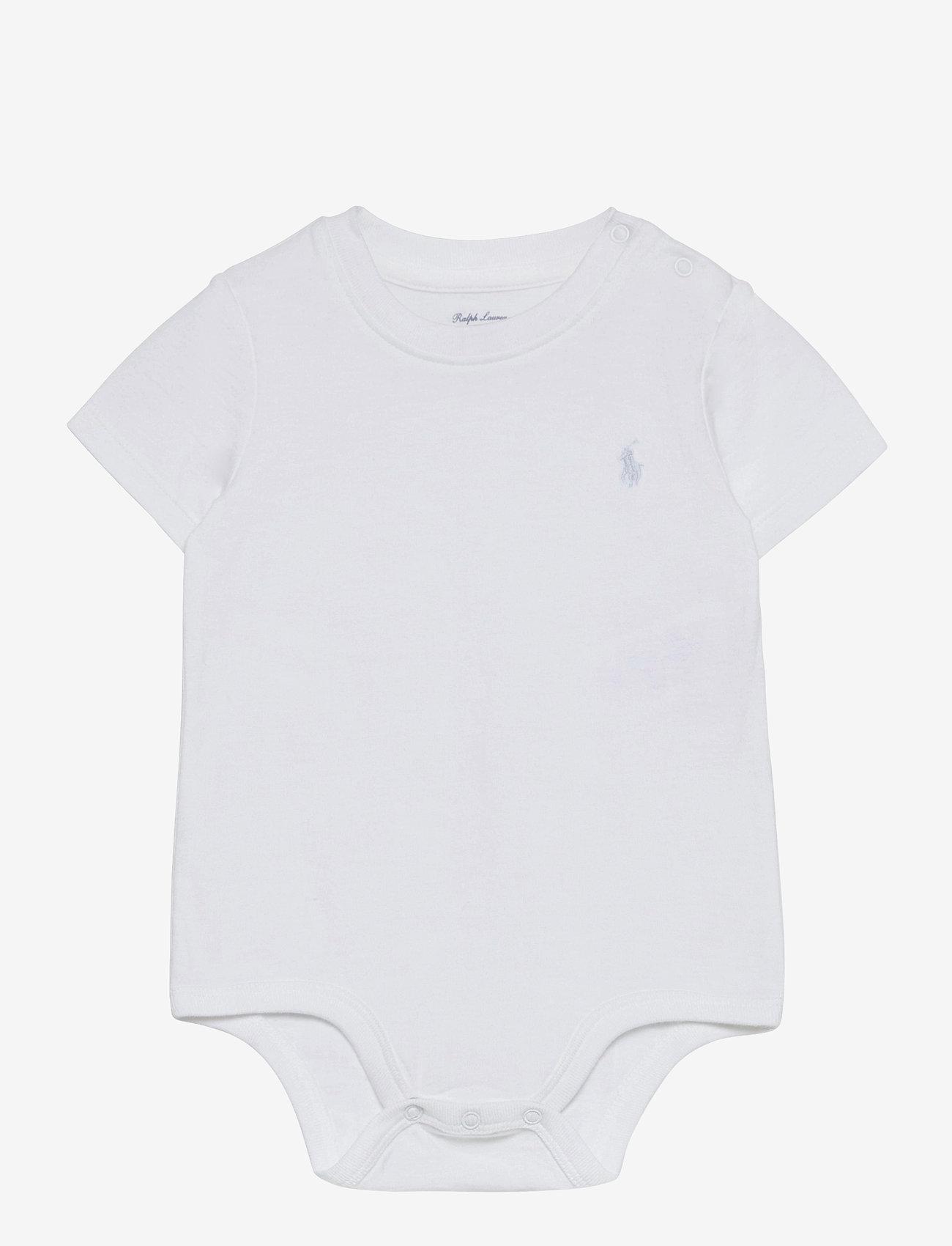 Ralph Lauren Baby - Cotton Jersey Bodysuit - kurzärmelige - white - 0