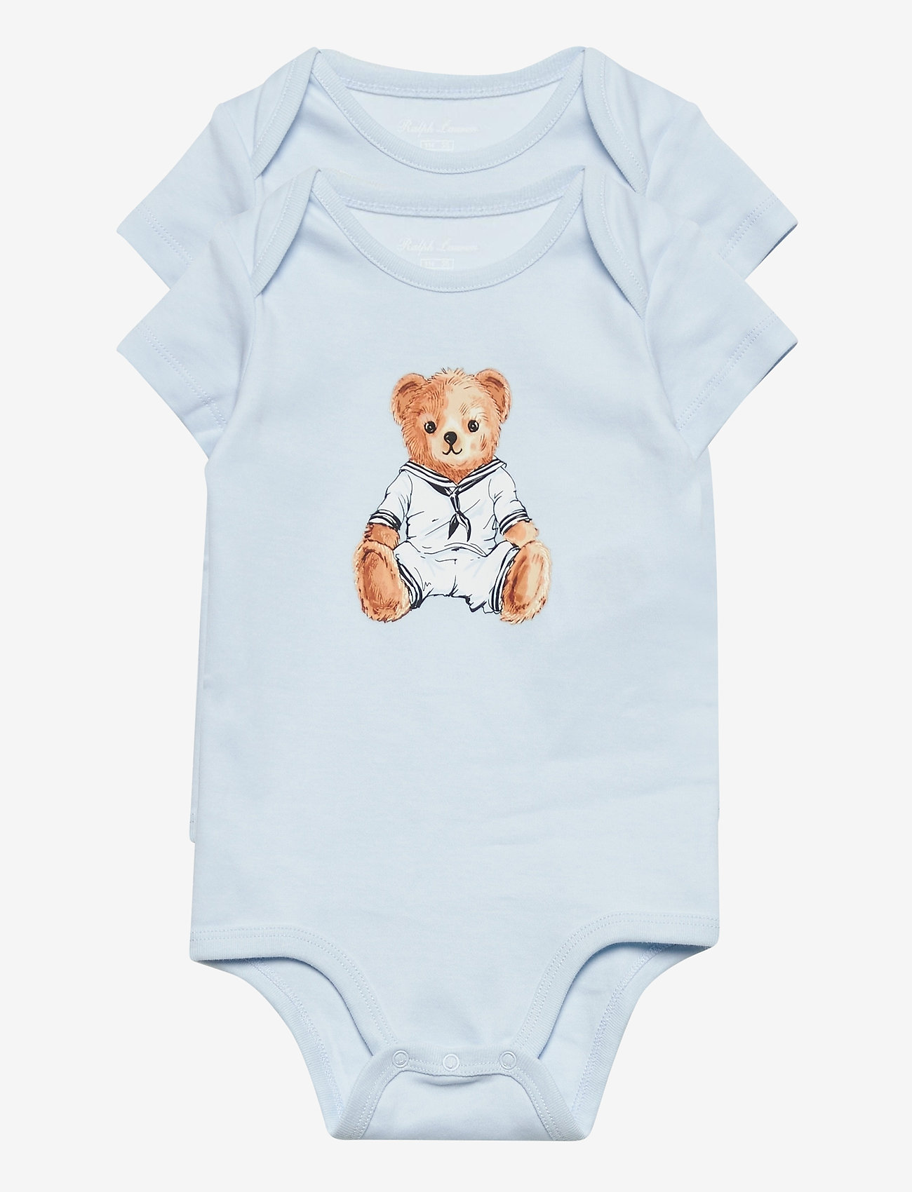 Ralph Lauren Baby - Polo Bear Bodysuit 2-Piece Set - kurzärmelige - white multi - 0