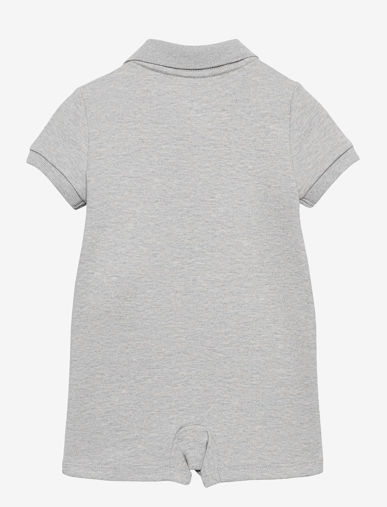 Ralph Lauren Baby - Polo Bear Cotton Interlock Shortall - kurzärmelig - andover heather - 1
