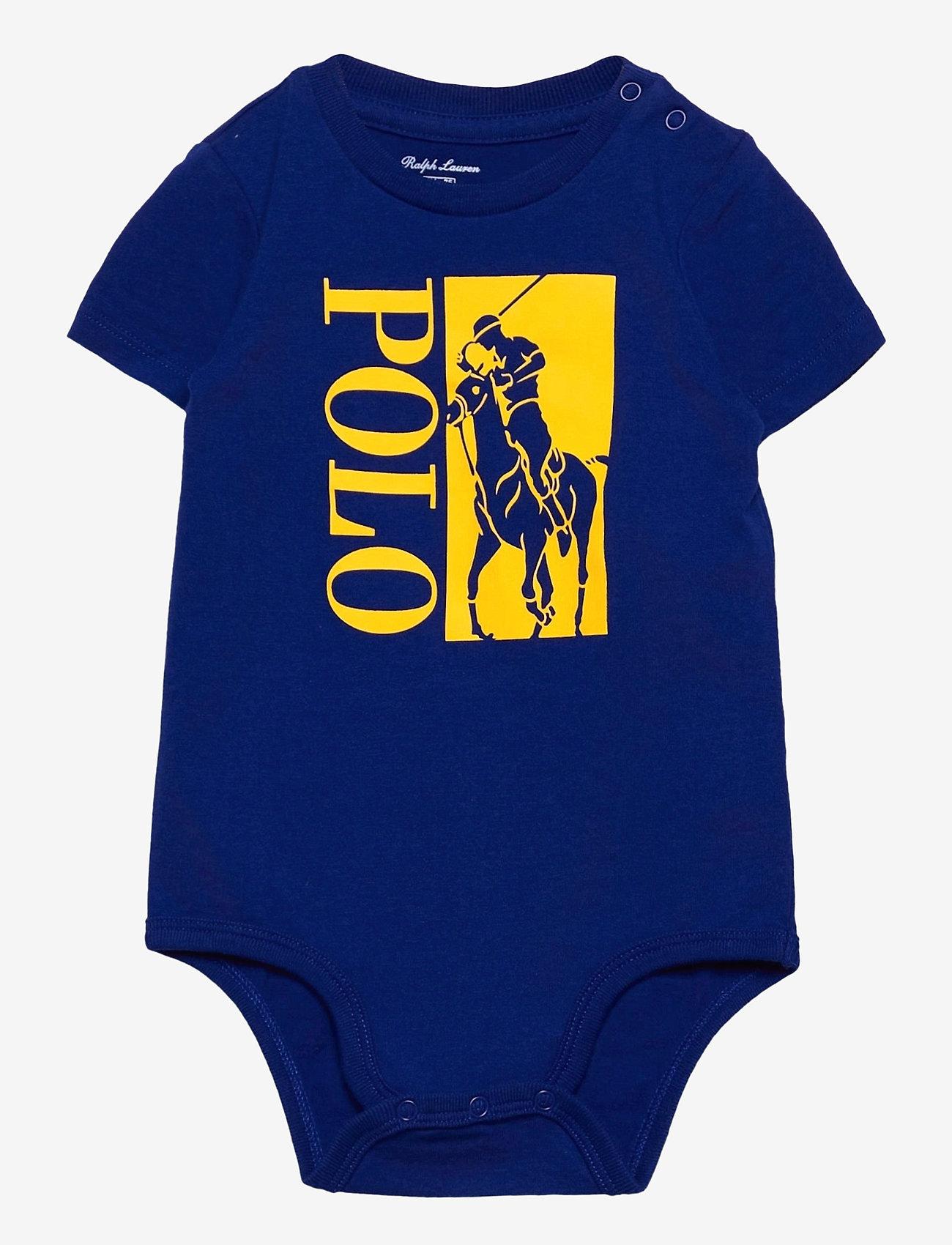 Ralph Lauren Baby - Big Pony Logo Jersey Bodysuit - kurzärmelige - heritage royal - 0