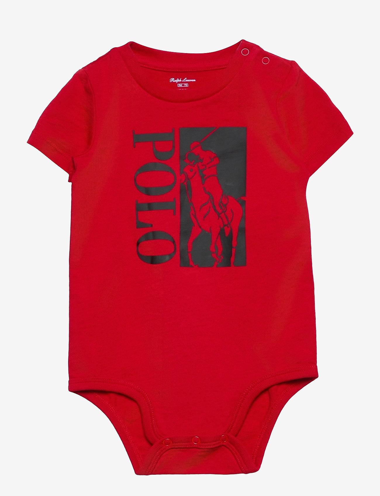 Ralph Lauren Baby - Big Pony Logo Jersey Bodysuit - short-sleeved - rl 2000 red - 0