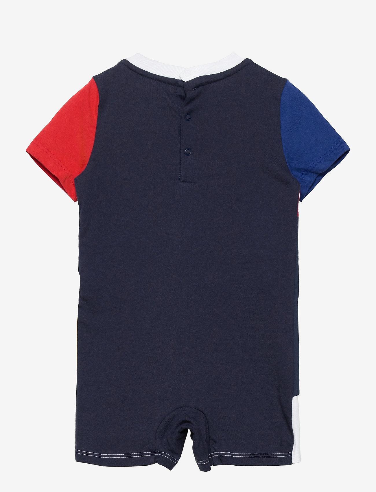 Ralph Lauren Baby - Logo Cotton Jersey Shortall - kurzärmelig - multi - 1