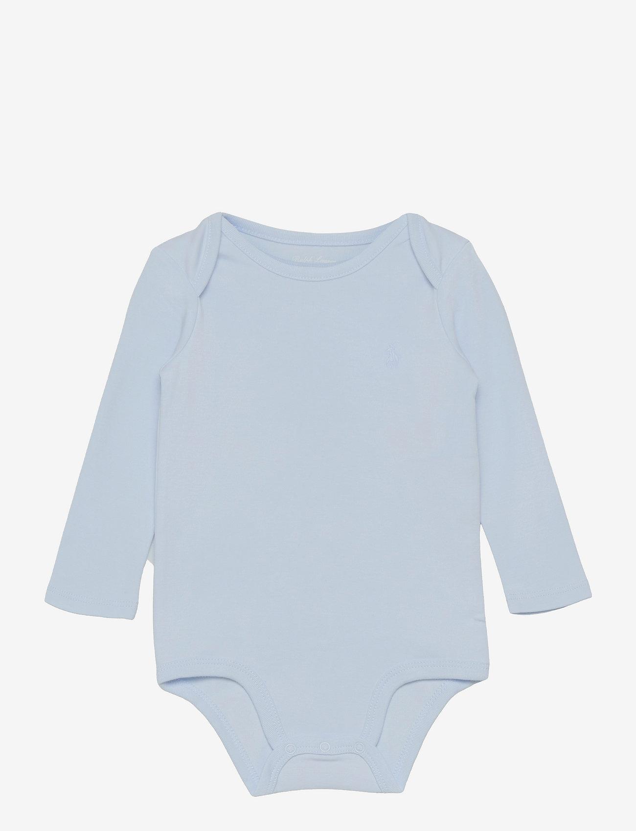 Ralph Lauren Baby - Cotton Interlock Bodysuit - plain long-sleeved bodies - beryl blue - 0