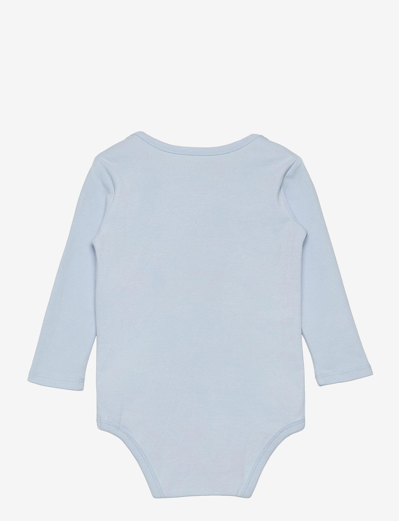 Ralph Lauren Baby - Cotton Interlock Bodysuit - plain long-sleeved bodies - beryl blue - 1