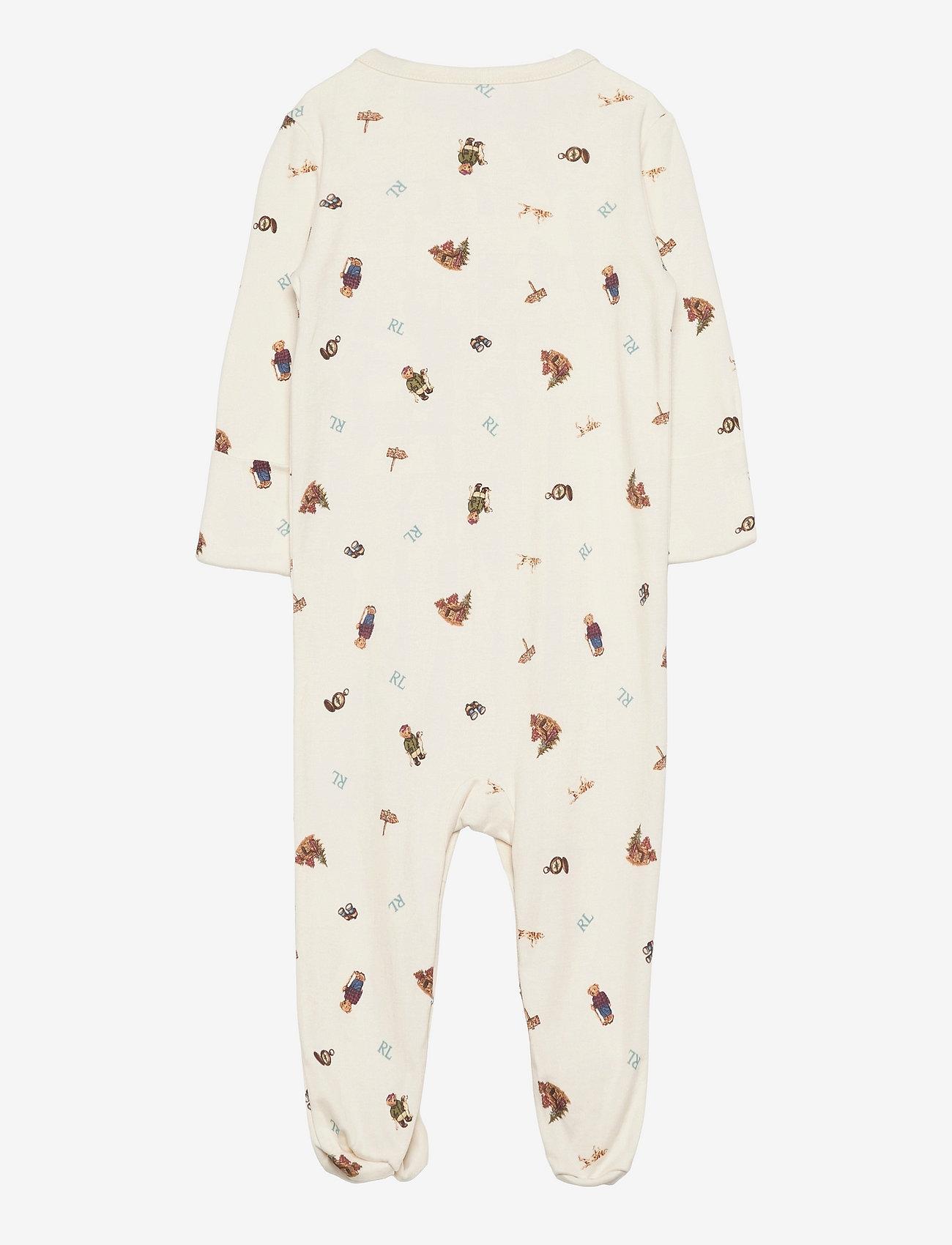 Ralph Lauren Baby - Polo Bear Soft Cotton Coverall - sleeping overalls - greenwhich bear p - 1