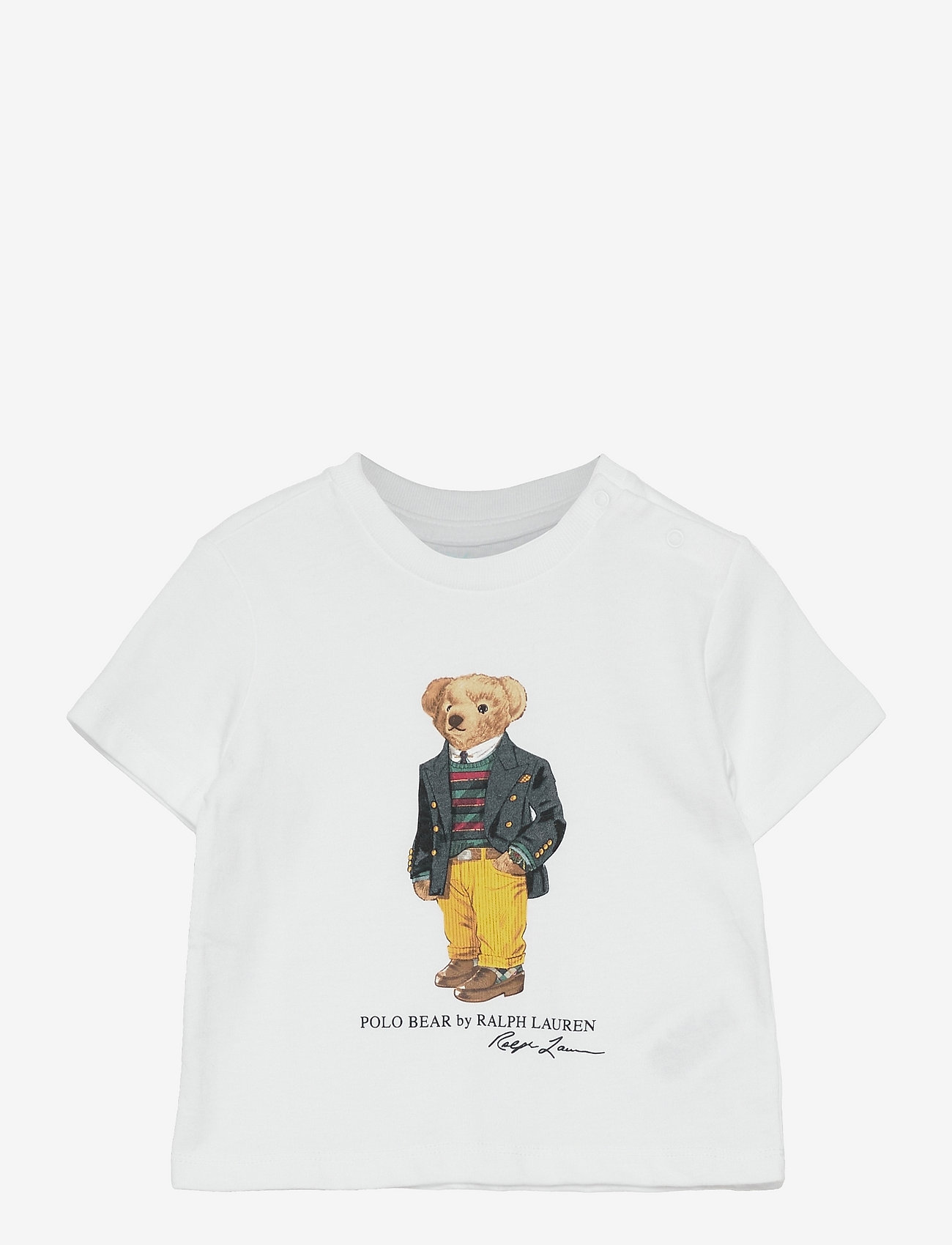 Ralph Lauren Baby - Polo Bear Cotton Jersey Tee - pattern short-sleeved t-shirt - white - 0