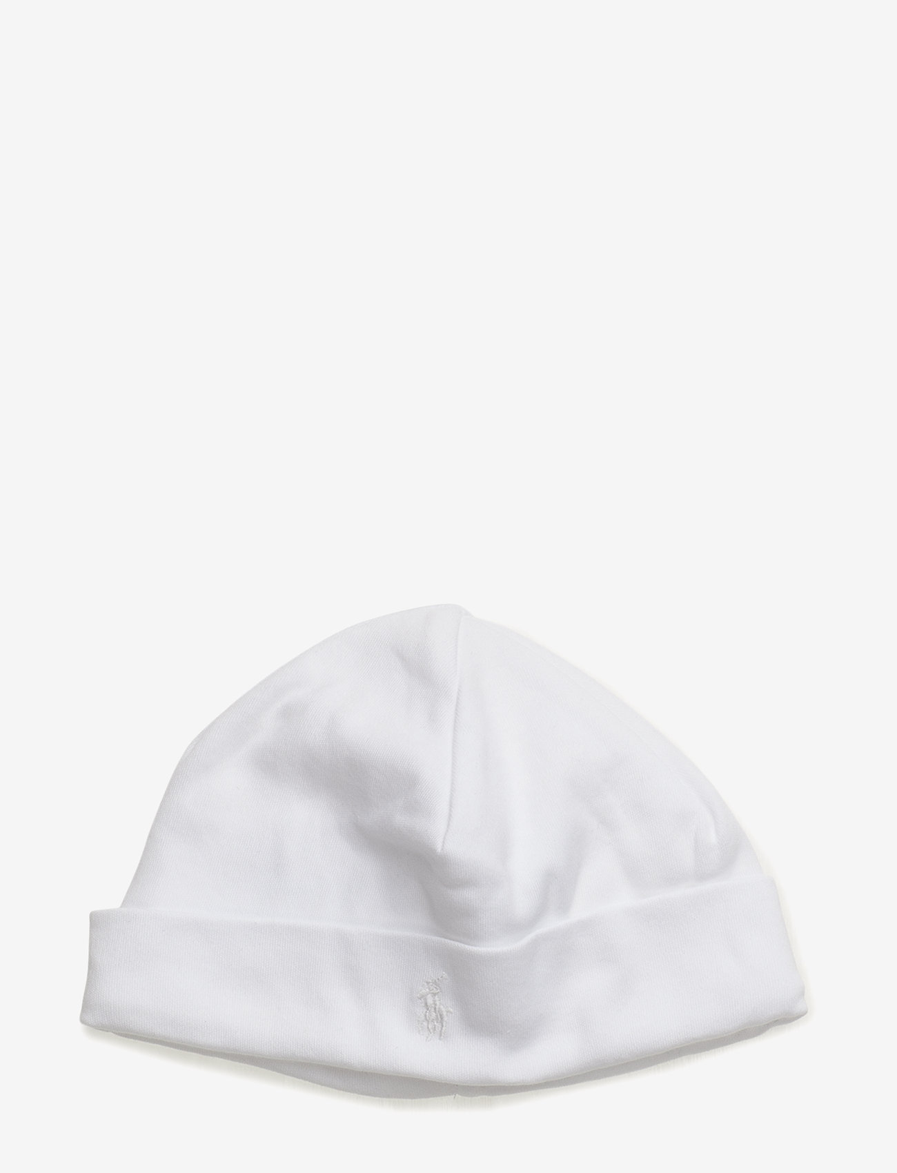 Ralph Lauren Baby - Cotton Interlock Hat - huer - white - 0