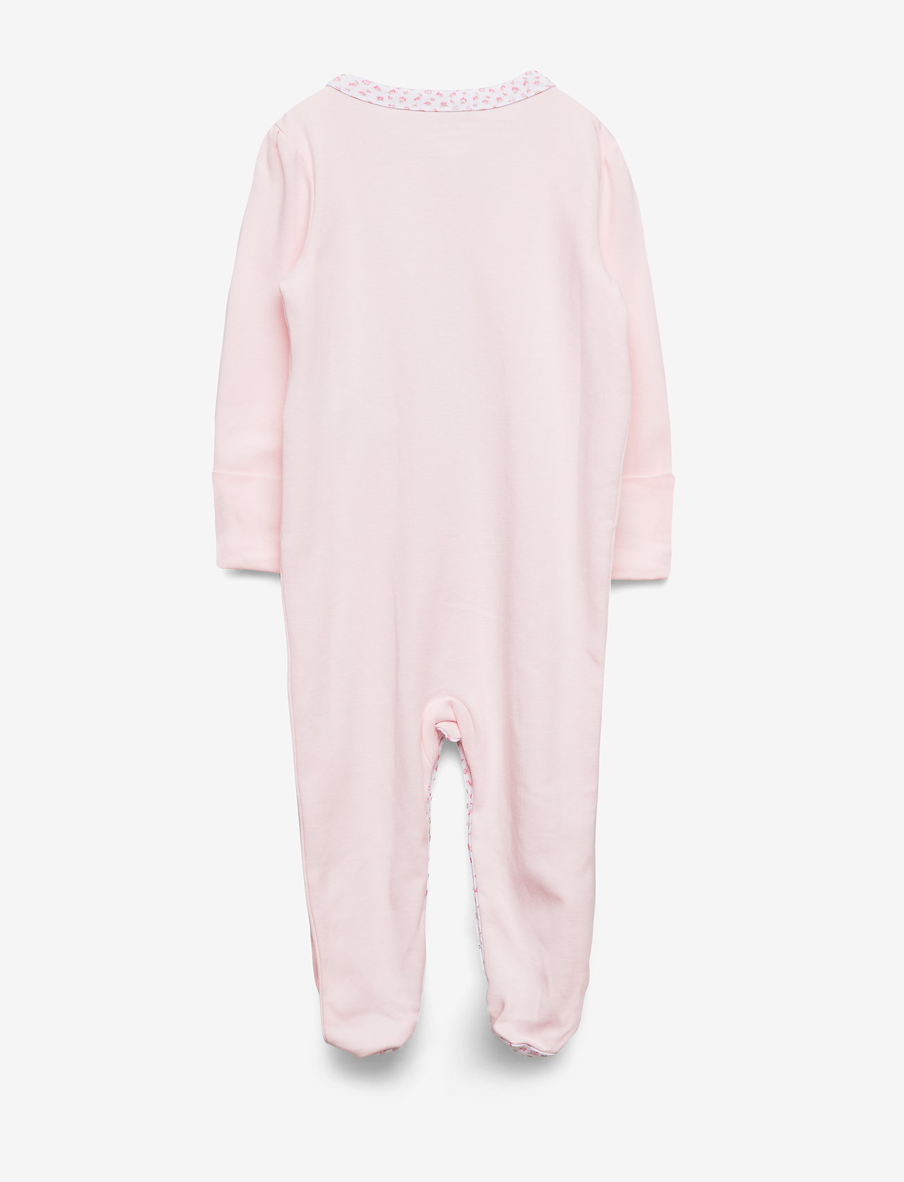 Ralph Lauren Baby - Floral-Trim Cotton Coverall - pajacyki do spania - delicate pink - 1