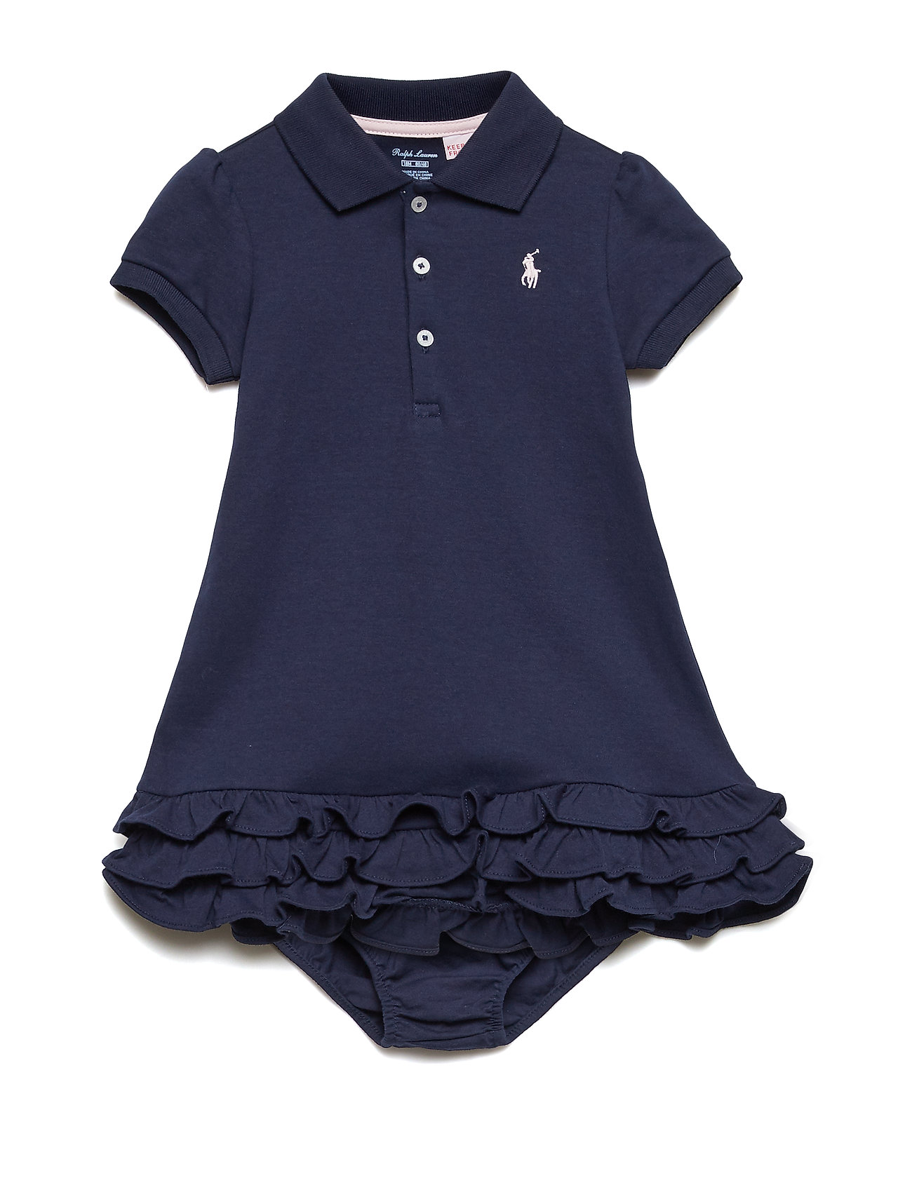 Ralph Lauren Baby Ruffled Polo Dress & Bloomer - FRENCH NAVY