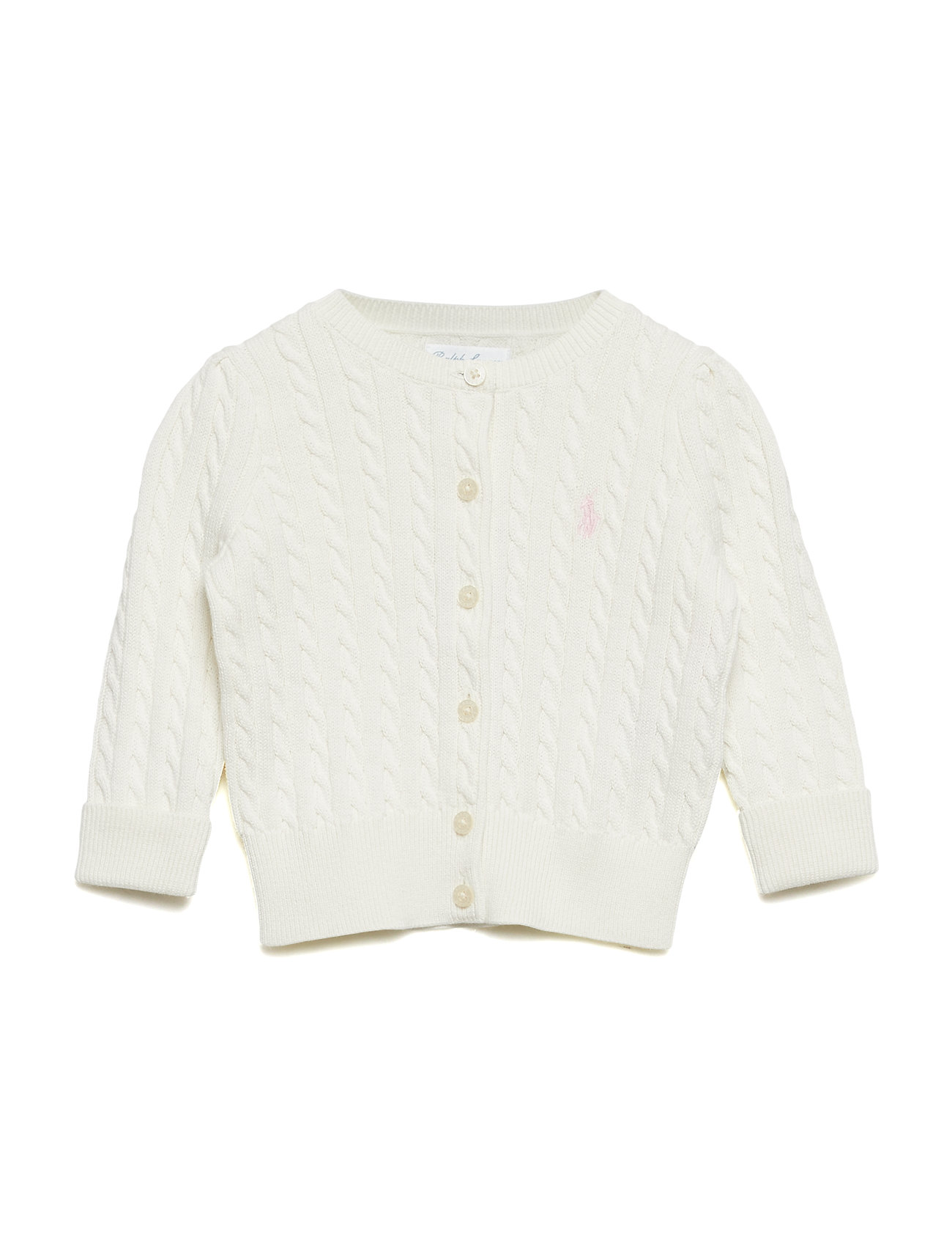 Ralph Lauren Baby Cable-Knit Cotton Cardigan - WARM WHITE