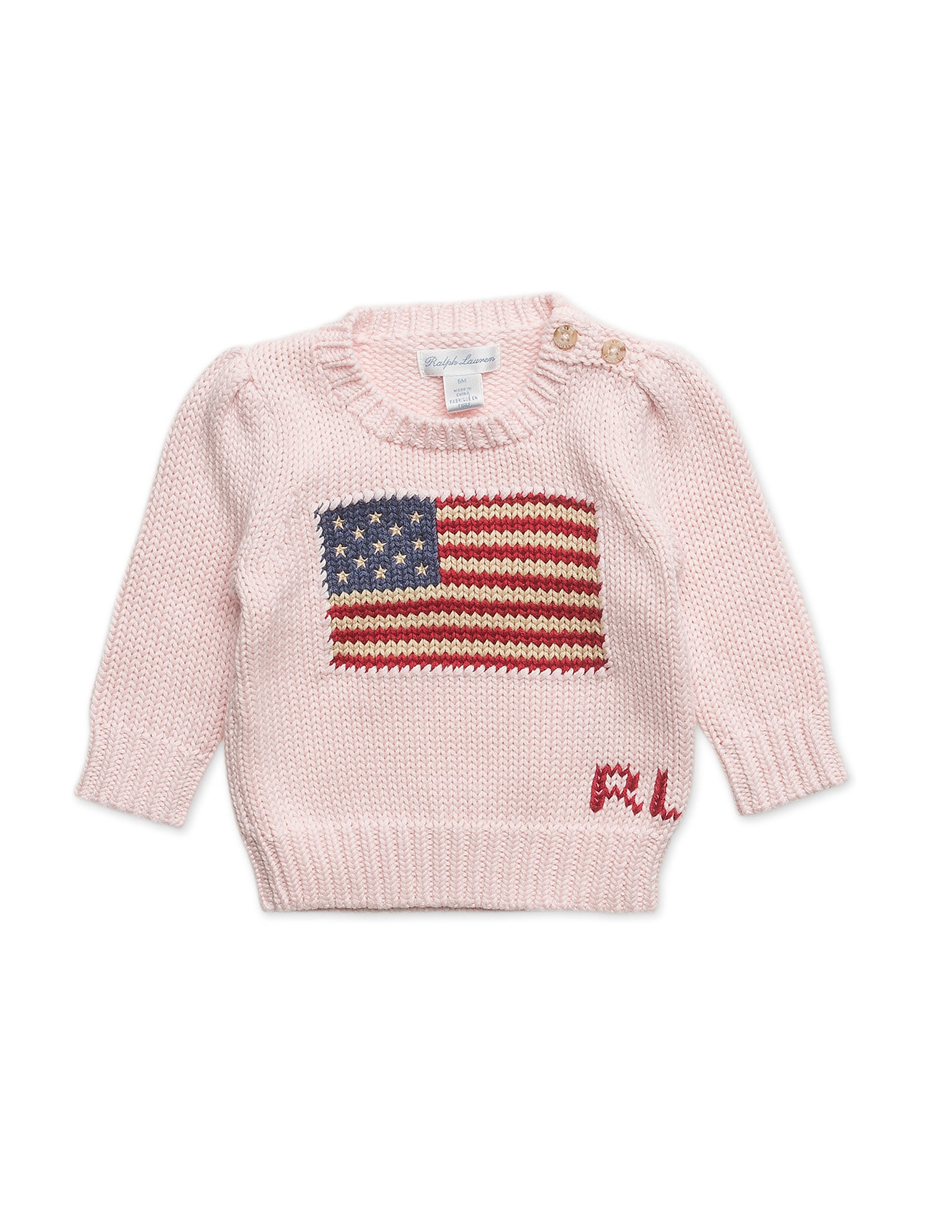 2b403069ce70a American Flag Sweater (French Pink) (99 €) - Ralph Lauren Baby ...