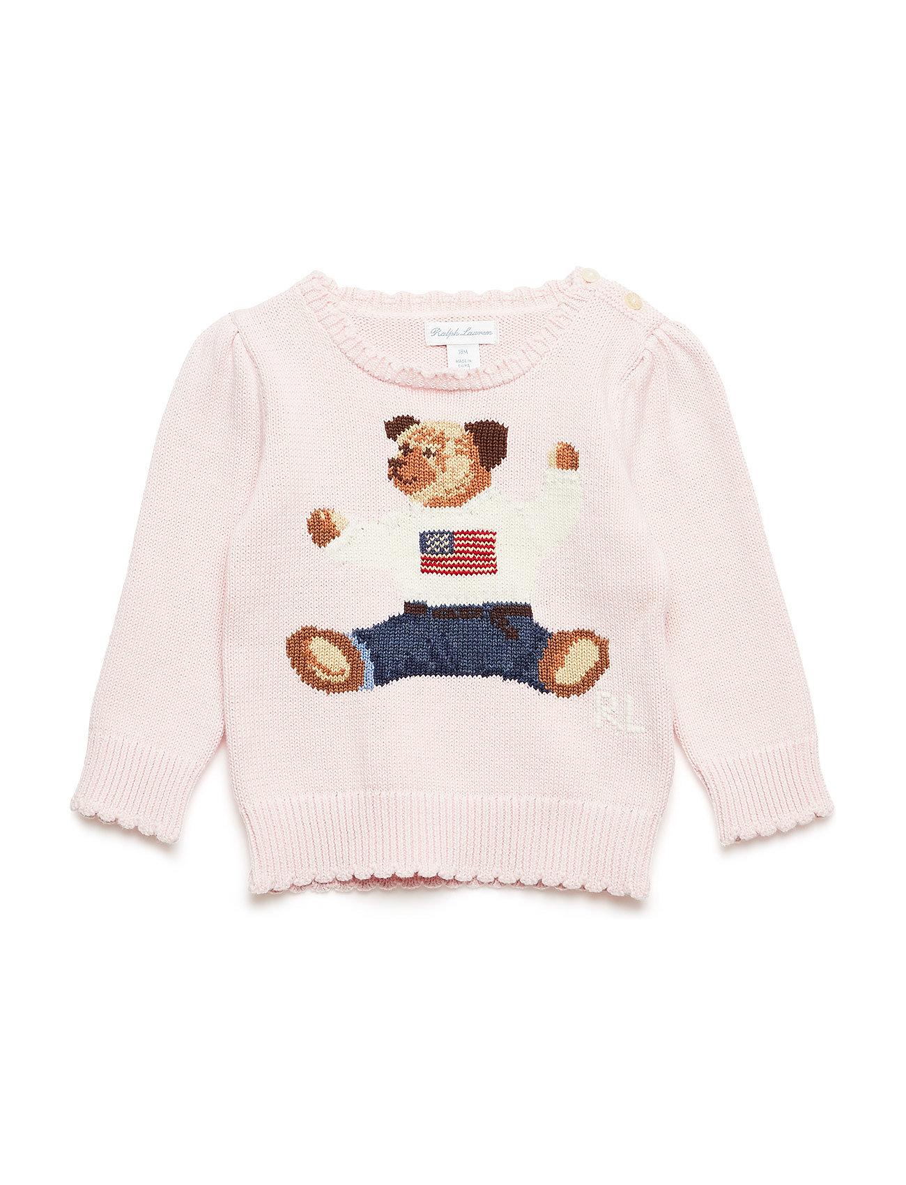 66931f3fba9d Polo Bear Cotton Sweater (Powder Pink) (62.50 €) - Ralph Lauren Baby ...