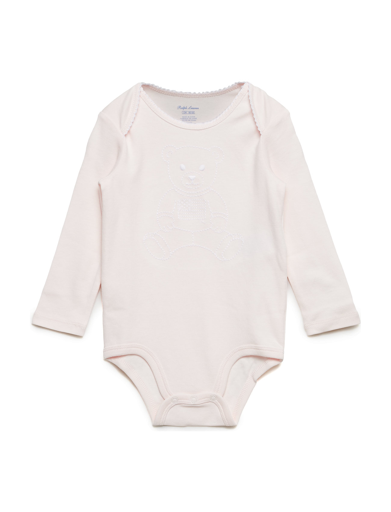b05776227785b Embroidered Polo Bear Bodysuit (Delicate Pink) (£25) - Ralph Lauren ...