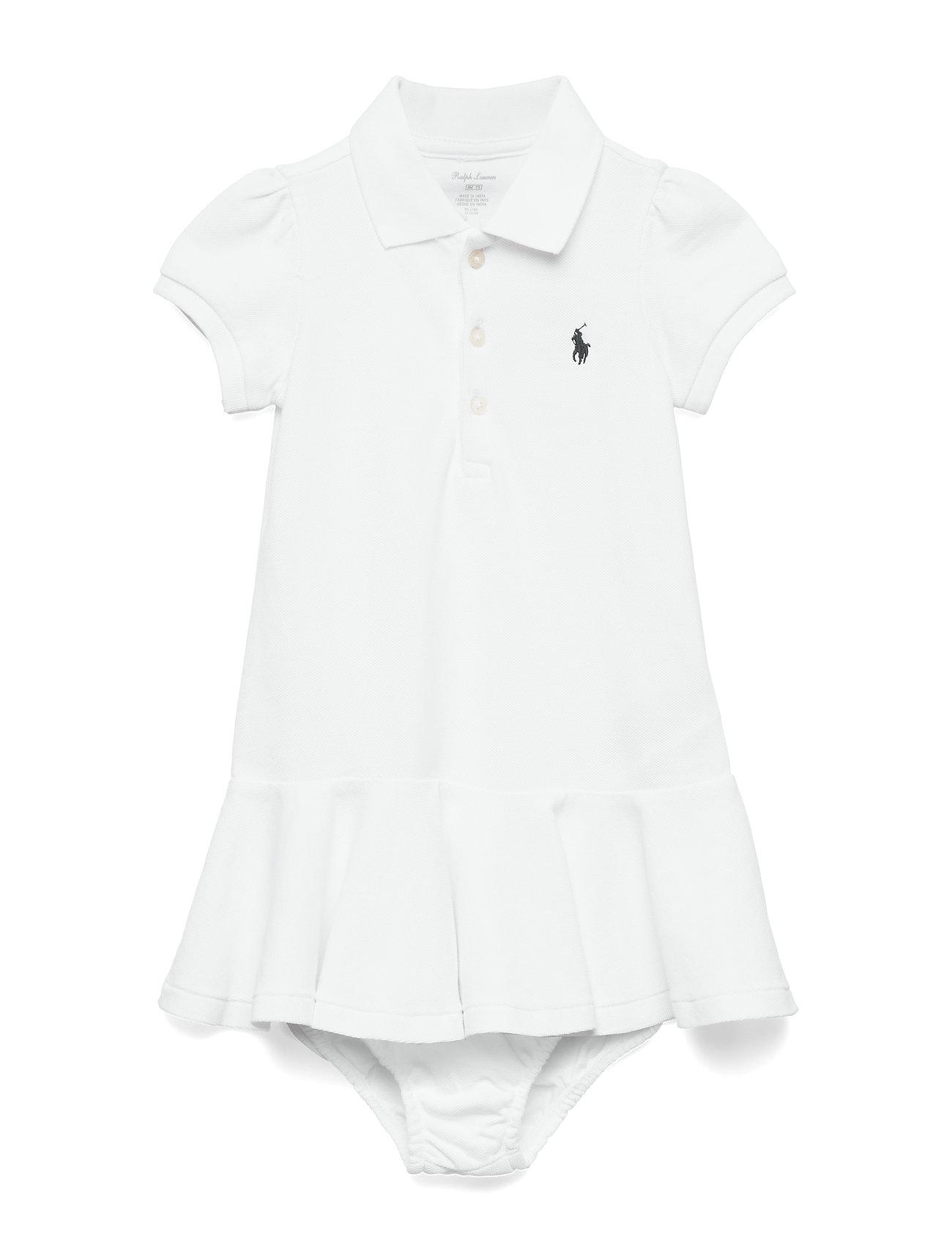 Ralph Lauren Baby Piqué Polo Dress & Bloomer - WHITE