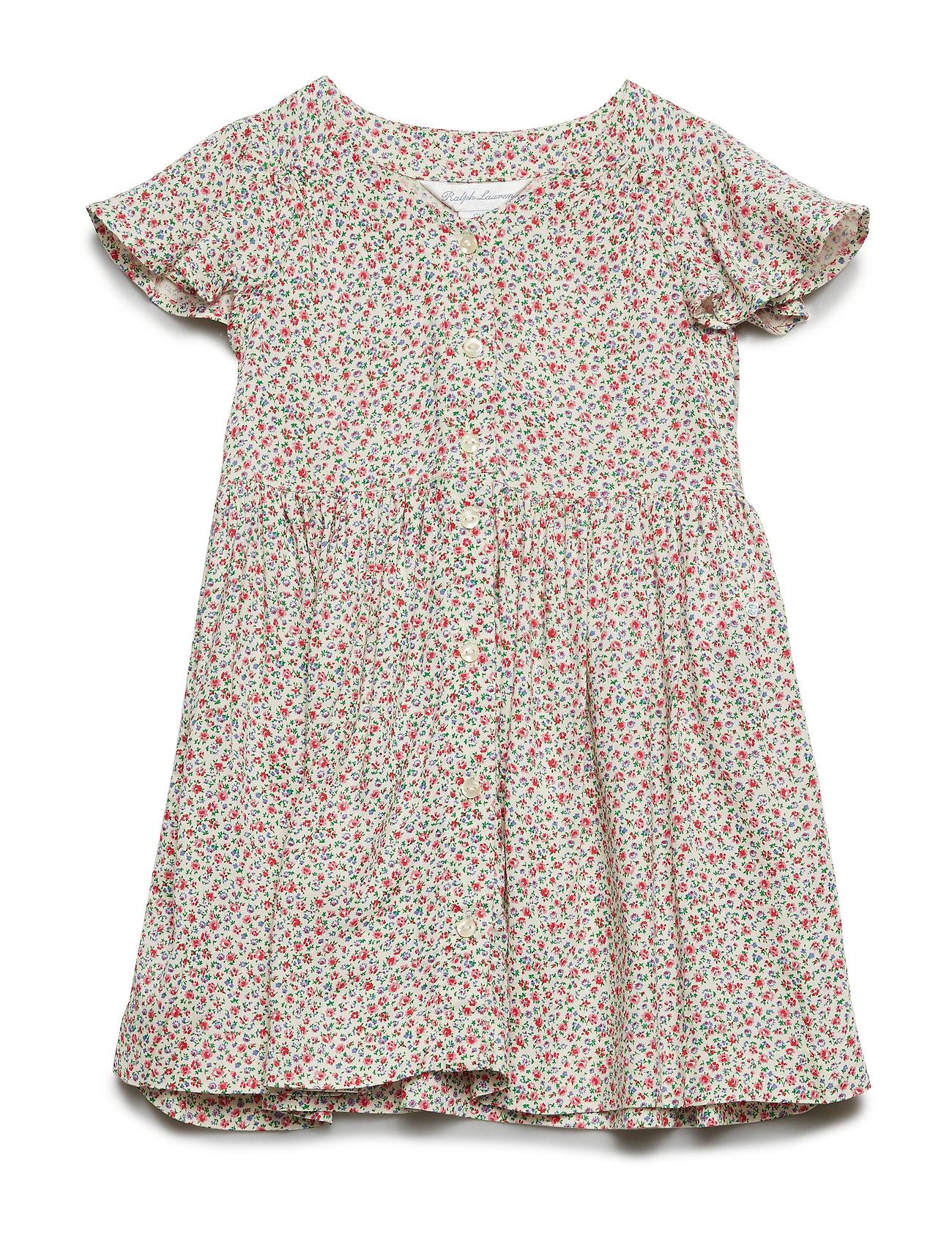 ac5deac99 Rayon-floral Dress-dr-wvn (Cream Multi) (£45.50) - Ralph Lauren Baby ...