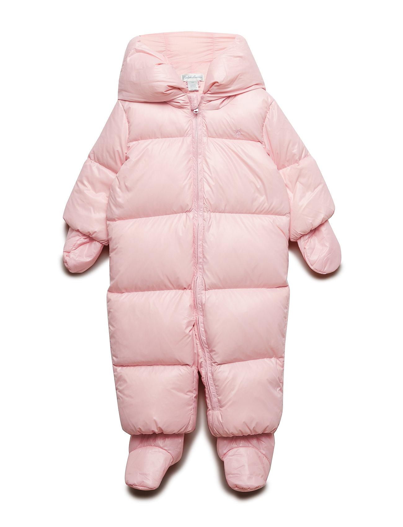 Ralph Lauren Baby Quilted Down Snowsuit - HINT OF PINK