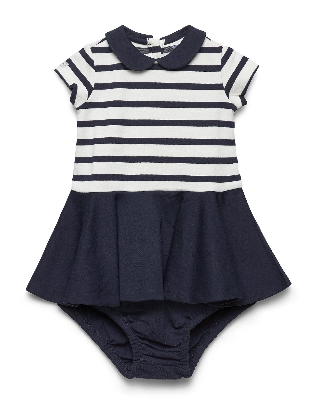 Ralph Lauren Baby Two-Tone Ponte Dress & Bloomer - HUNTER NAVY-CLUBH