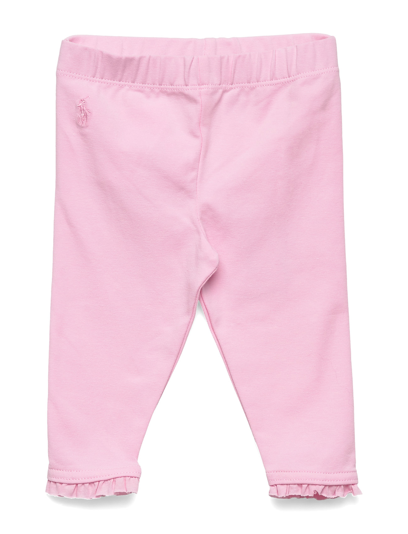 Ralph Lauren Baby Ruffled Stretch Cotton Legging - CARMEL PINK
