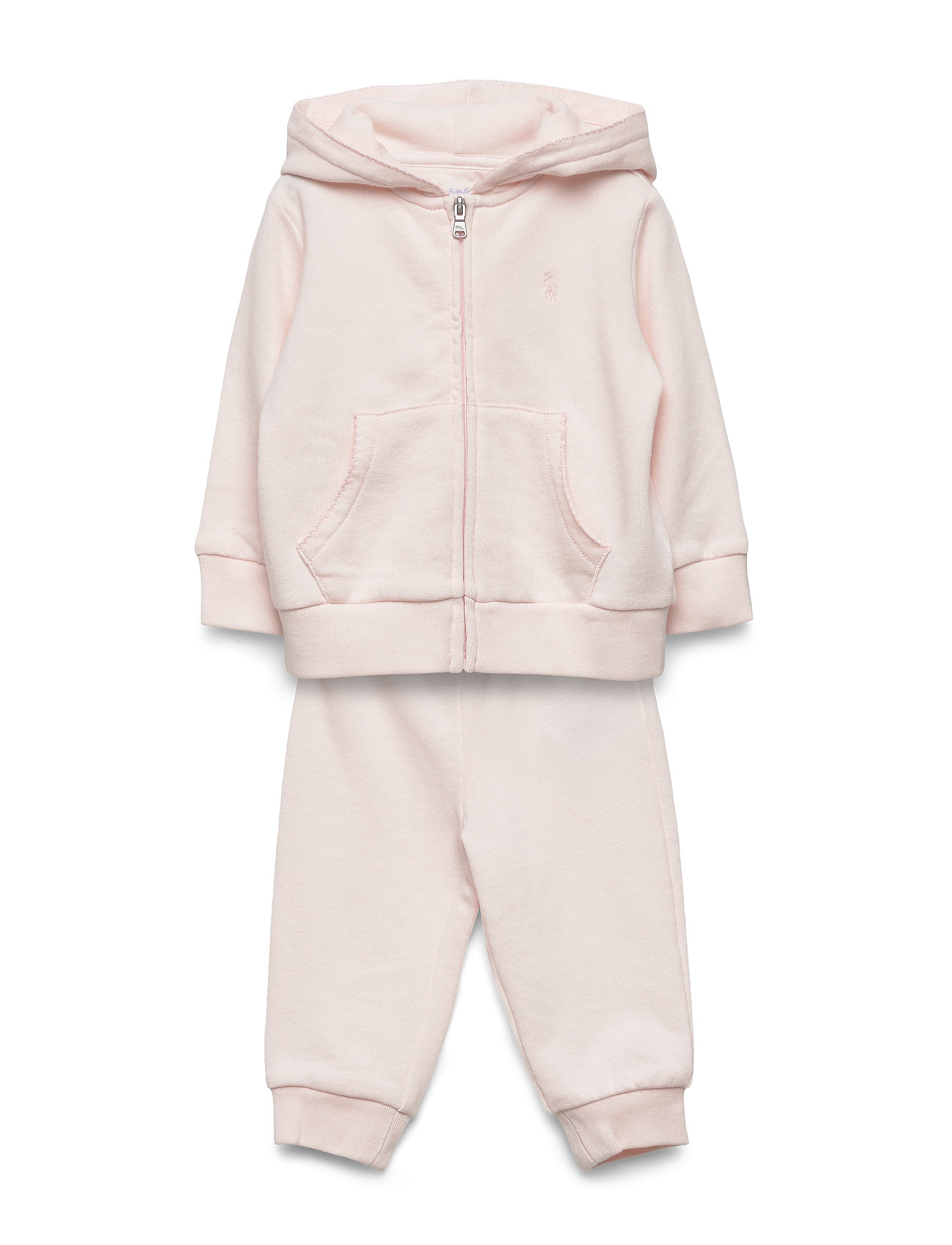Ralph Lauren Baby French Terry Hoodie & Pant Set - DELICATE PINK