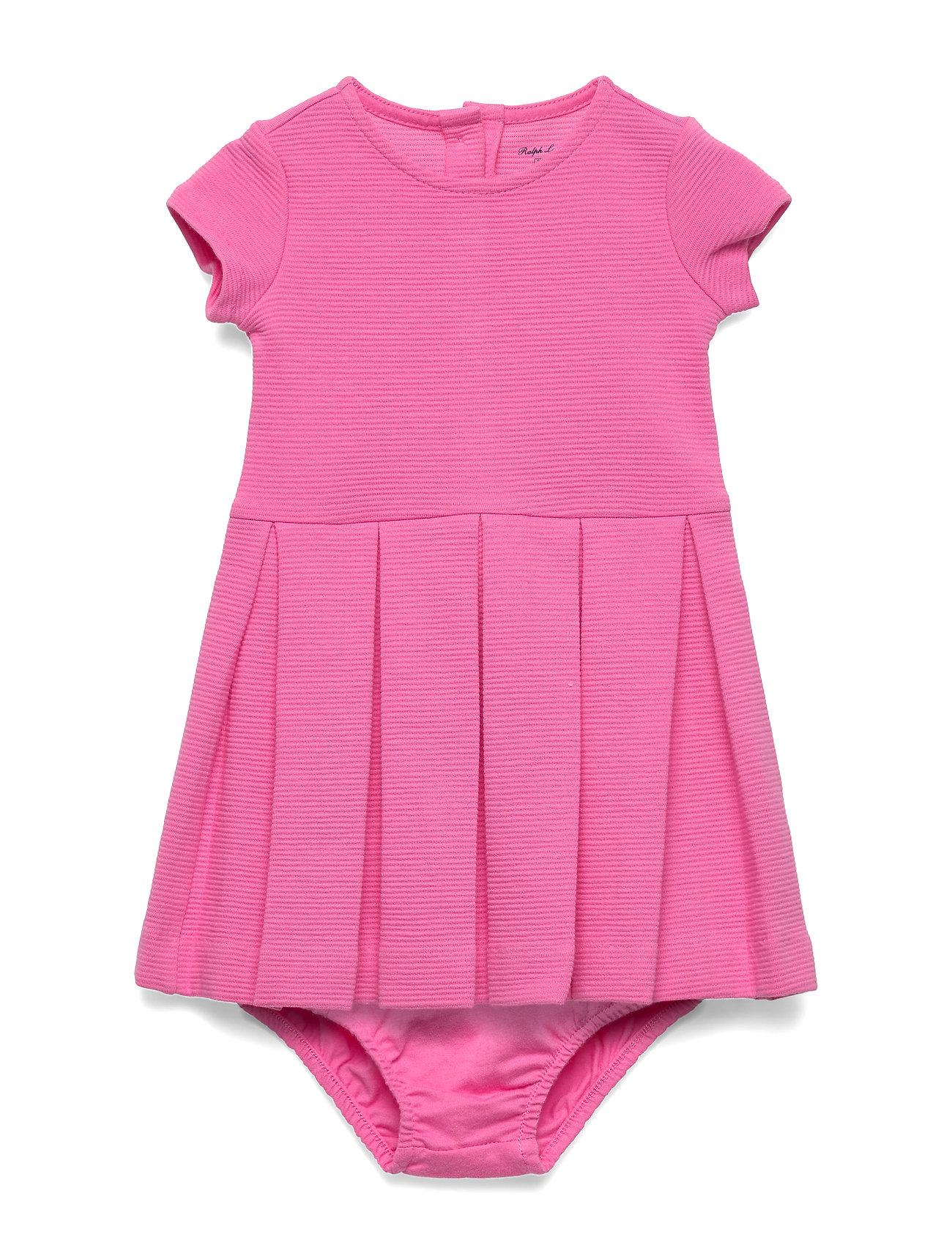 Ralph Lauren Baby Pleated Knit Dress & Bloomer - BAJA PINK