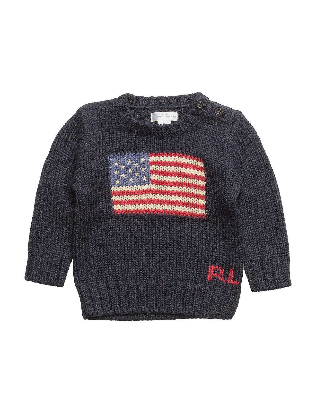 969a1c7a16fda Flag Cotton Sweater (Hunter Navy) (66.75 €) - Ralph Lauren Baby ...
