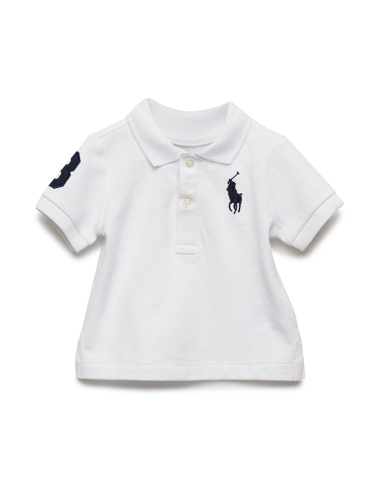 Ralph Lauren Baby BASIC MESH-SS KC-TP-KNT - WHITE