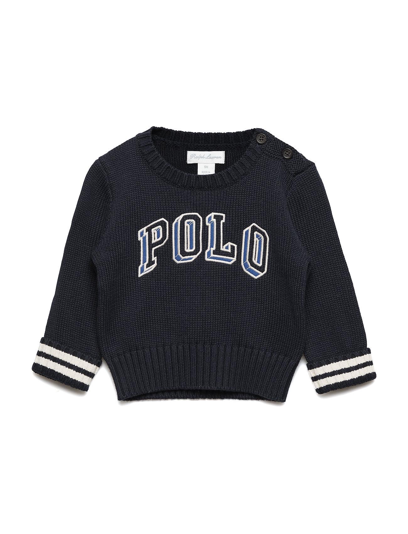 Ralph Lauren Baby Polo Cotton Crewneck Sweater - RL NAVY MULTI